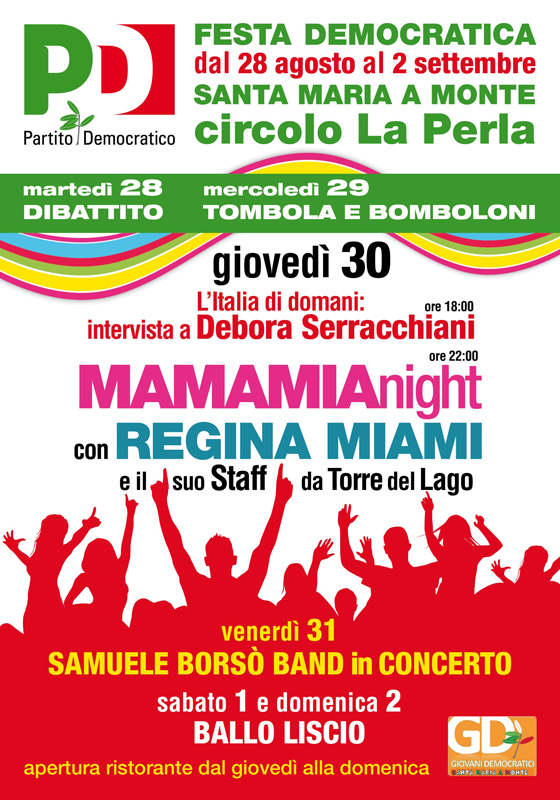 Manifesto PD mamamianight